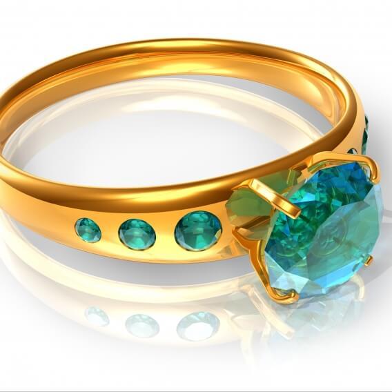 טבעת משובצת באמרלדים ויקטוריה SD 113