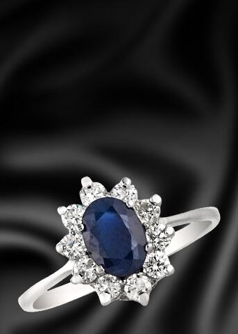 טבעות יהלומים בשילוב אבני חן